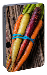 Rainbow Carrots Portable Battery Charger by Garry Gay