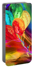 Portable Battery Charger featuring the mixed media Rainbow Chaser by Carol Cavalaris