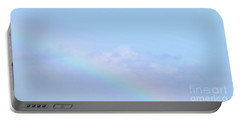 Portable Battery Charger featuring the digital art Rainbow Clouds And Sky by Francesca Mackenney
