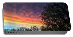 Rainbow Dawn Portable Battery Charger by Kathy M Krause