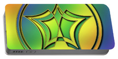 Portable Battery Charger featuring the digital art Rainbow Design 1 by Chuck Staley