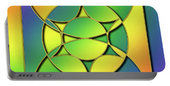 Portable Battery Charger featuring the digital art Rainbow Design 3 by Chuck Staley