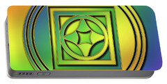 Portable Battery Charger featuring the digital art Rainbow Design 4 by Chuck Staley