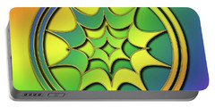 Portable Battery Charger featuring the digital art Rainbow Design 5 by Chuck Staley