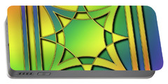 Portable Battery Charger featuring the digital art Rainbow Design 6 by Chuck Staley