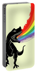 Rainbow Dinosaur Portable Battery Charger by Mark Ashkenazi