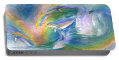 Rainbow Dolphins Portable Battery Charger