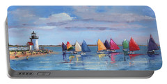 Rainbow Fleet Parade At Brant Point Portable Battery Charger by Trina Teele