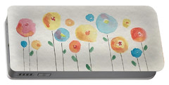 Rainbow Floral Portable Battery Charger