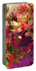 Rainbow Flower Rhapsody Purple Green Portable Battery Charger