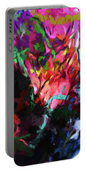 Rainbow Flower Rhapsody Red Turquoise Blue Portable Battery Charger