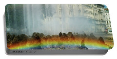Portable Battery Charger featuring the photograph Rainbow Fountain In Vienna by Mariola Bitner