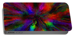 Rainbow Grunge Abstract Portable Battery Charger