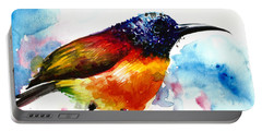 Rainbow Hummingbird Watercolor Portable Battery Charger