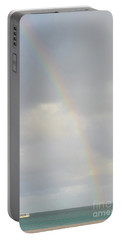 Rainbow In The Skies Of Aruba Portable Battery Charger by DejaVu Designs