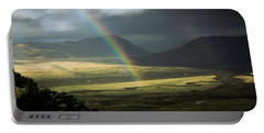 Rainbow In The Valley Portable Battery Charger by Andrew Matwijec