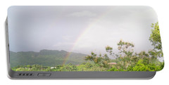 Rainbow In Villalba, Puerto Rico Portable Battery Charger