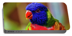 Rainbow Lorikeet Portable Battery Charger by Martin Newman