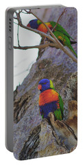 Rainbow Lorikeets Xiii Portable Battery Charger by Cassandra Buckley