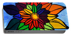 Rainbow Lotus Flower Portable Battery Charger