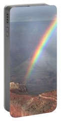 Rainbow Meets Mather Point Portable Battery Charger
