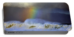 Rainbow On The Banzai Pipeline At The North Shore Of Oahu 2 To 1 Ratio Portable Battery Charger