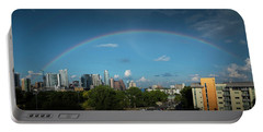 Rainbow Over Austin Portable Battery Charger
