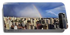 Rainbow Over City Skyline - Sao Paulo Portable Battery Charger