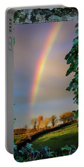 Portable Battery Charger featuring the photograph Rainbow Over County Clare, Ireland, by James Truett