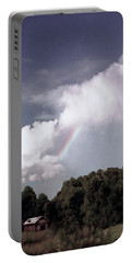 Rainbow Over Farm Portable Battery Charger by Bonnie Willis