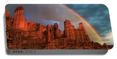 Rainbow Over Fisher Towers Portable Battery Charger
