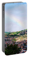 Rainbow Over Funchal Portable Battery Charger