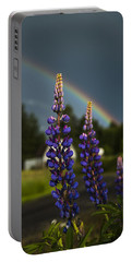 Rainbow Over Lupine  Portable Battery Charger