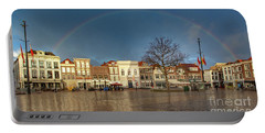 Rainbow Over Market Place Gouda Portable Battery Charger