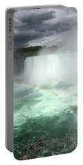 Rainbow Over Niagara Falls Portable Battery Charger