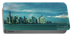 Rainbow Over Panama City Portable Battery Charger
