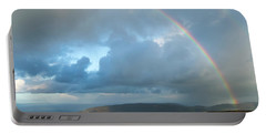 Rainbow Over Porlock Hill Portable Battery Charger
