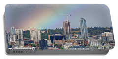 Rainbow Over Seattle Portable Battery Charger