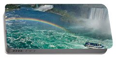 Rainbow Over The Falls Portable Battery Charger