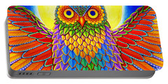 Rainbow Owl Portable Battery Charger
