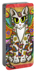 Rainbow Paisley Fairy Cat Portable Battery Charger