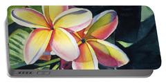 Rainbow Plumeria Portable Battery Charger