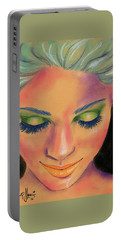 Rainbow Prayers Portable Battery Charger by P J Lewis