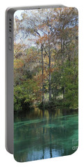 Portable Battery Charger featuring the photograph Rainbow River Vertical by Dodie Ulery