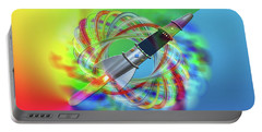 Rainbow Rocket Orbits Portable Battery Charger