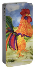 Rainbow Rooster Portable Battery Charger