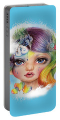 Rainbow Rosalie  Portable Battery Charger by Sheena Pike
