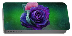 Portable Battery Charger featuring the photograph Rainbow Rose Among The Stars by Ericamaxine Price
