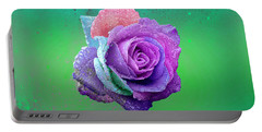 Portable Battery Charger featuring the photograph Rainbow Rose by Ericamaxine Price