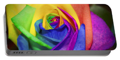 Rainbow Rose In Paint Portable Battery Charger